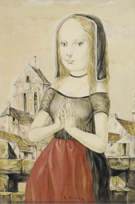 Цугухару Фудзита ( Леонар Фужита ). Girl praying