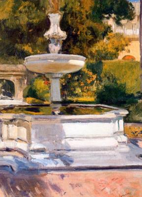 Joaquin Sorolla (Soroya). Fountain