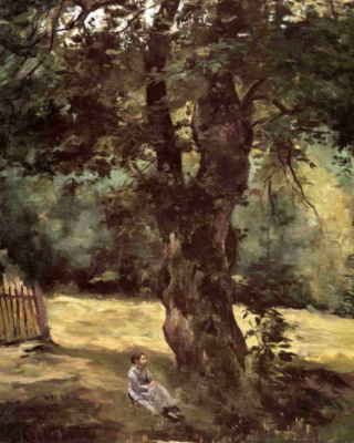 Gustave Caillebotte. Woman sitting under a tree