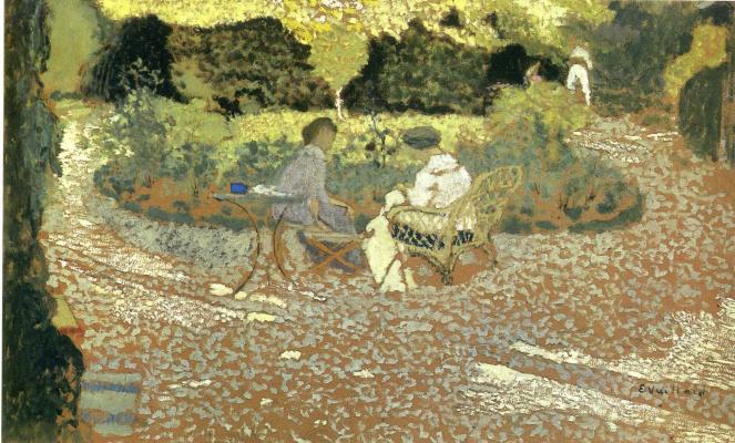 Jean Edouard Vuillard. In the Garden