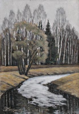 Victor Andreevich Chepurko. Spring in Pavlovsk