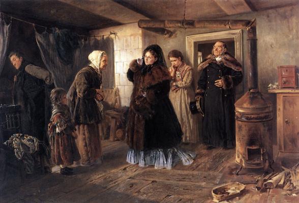 Владимир Егорович Маковский. Посещение бедных