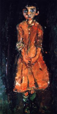 Haim Solomonovich Soutine. Girl in pink dress