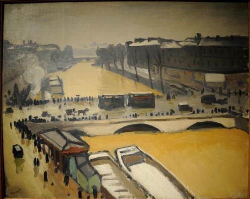 Альбер Марке. Мост Сент-Мишель. Наводнение в Париже.