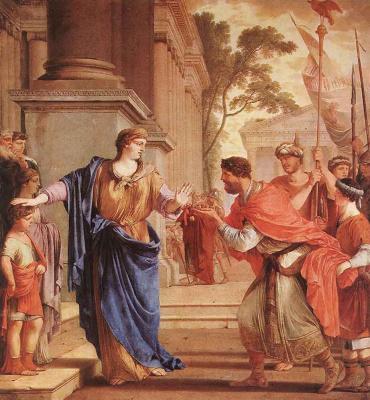Лоран де Ла Хайр. Корнелия отказывается от Короны Птоломея