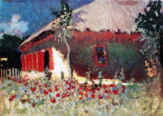 Николай Григорьевич Бурачек. Heat. At the hut at noon