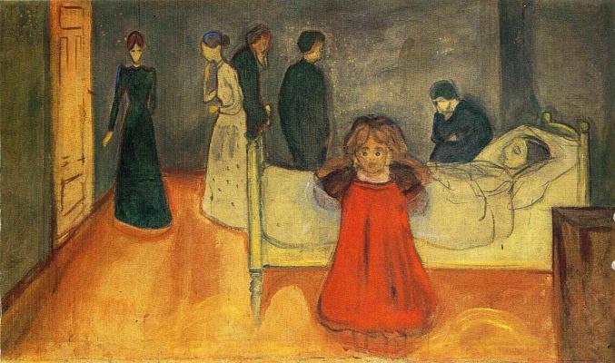 Edvard Munch. Dead mother (sketch)