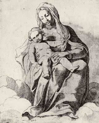 Annibale Carracci. Madonna in the clouds