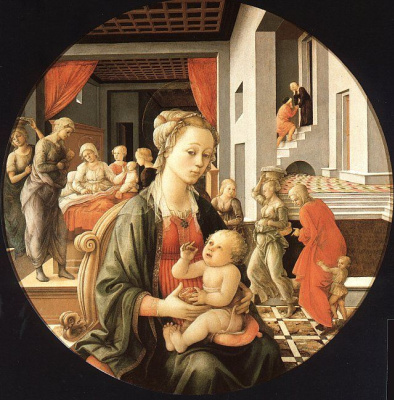 Fra Filippo Lippi. Mother and baby