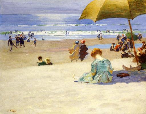 Эдвард Генри Поттаст. Отдых на пляже
