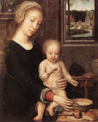 David Gerard. Madonna with the child