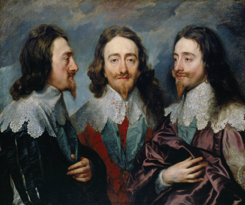 Anthony van Dyck. Triple portrait of Charles I, king of England