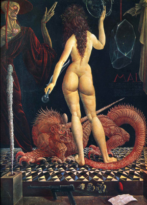 Ernst Fuchs. Metamorphoses Of Lucretia
