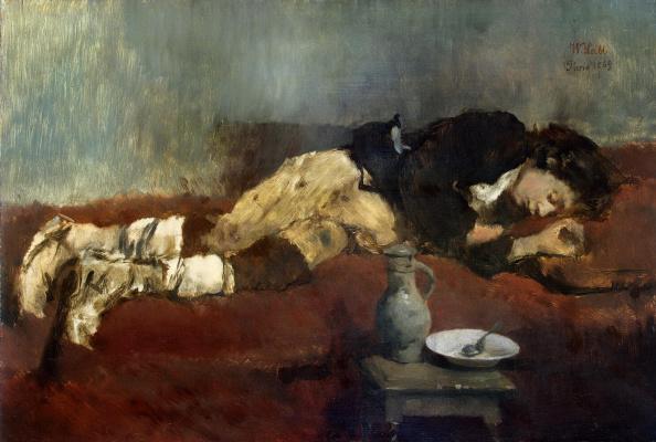Вильгельм Мария Губертус Лейбль. Спящий мальчик-савояр