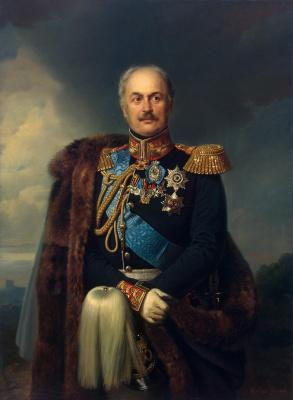 Franz Kruger. Portrait Kiseleva