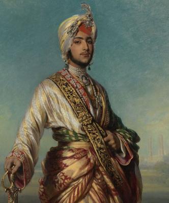 Franz Xaver Winterhalter. Maharaja Duleep Singh. Fragment