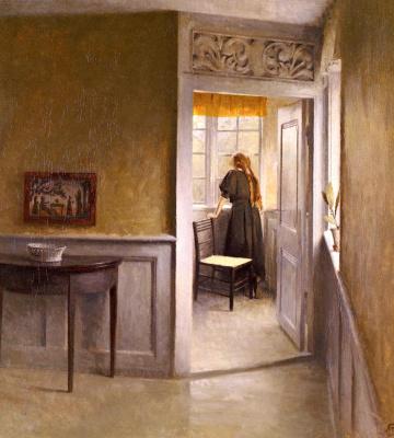 Петр Вильгельм Илстед. Выглядыывая в окно