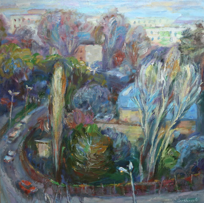 Oksana Viktorovna Zalevskaya. View from the workshop window