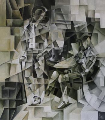 Vasily Krotkov. A duel? Kubofuturizm