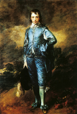 Thomas Gainsborough. The boy in blue. Portrait Of Jonathan Buttle