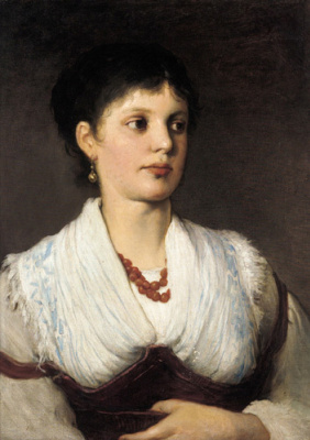 Gabriel Cornelius Ritter background Max. Portrait of a woman in national costume