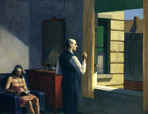 Edward Hopper. The hotel is near the railway
