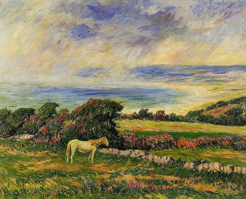 Генри Морэ. Лошадь на лугу