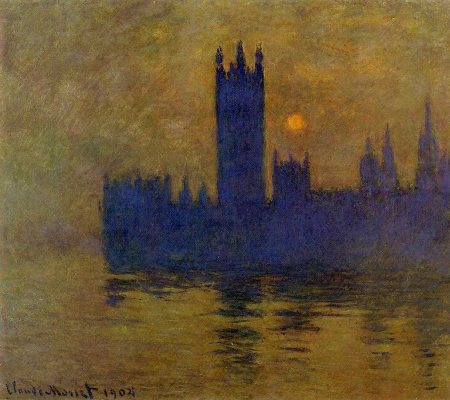 Westminster Palace, sunset