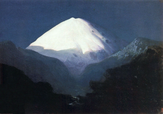 Arkhip Kuindzhi. Elbrus. Moonlit night