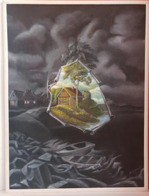 "Alik Khazgaleev. ""Birth of the Day"" (triptych)"