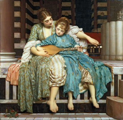 Frederic Leighton. Music lesson