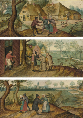 Peter Brueghel The Younger. Scenes of peasant life