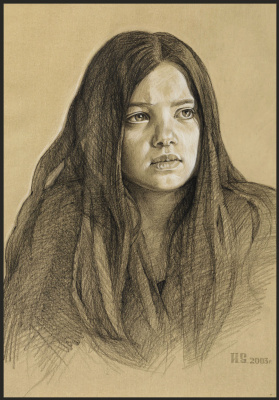 Sushienok64 @ mail.ru Mikhailovich Sushenok Igor. Portrait of a girl