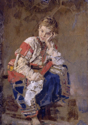Константин Аполлонович Савицкий. Портрет Е.К. Савицкой в детстве