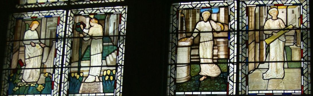 Stained glass windows of Morris's room, London