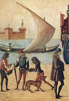 Vittore Carpaccio. The arrival of the English ambassadors