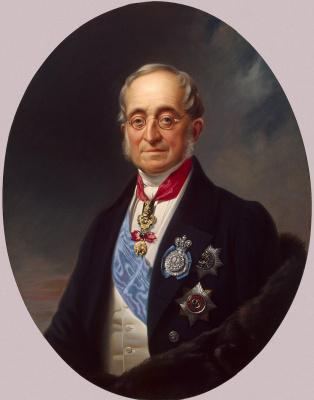 Franz Kruger. Portrait Of Nesselrode