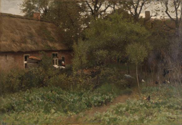Anton Maouve. The garden