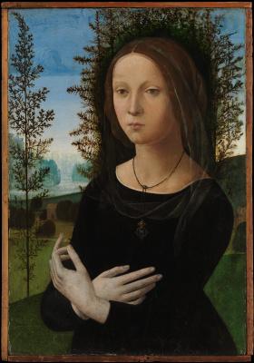 Lorenzo di Credi. Portrait of a young woman