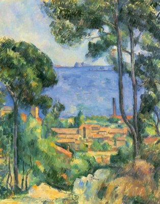 Paul Cezanne. View on the l'estaque and the Chateau d' If