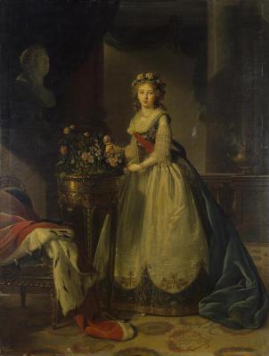 Elizabeth Vigee Le Brun. Portrait of a led. kN. Yelizaveta Alekseyevna