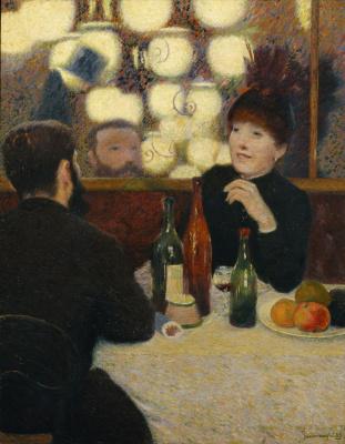 """Federico Zandomenegi. In the cafe """"New Athens"""""""