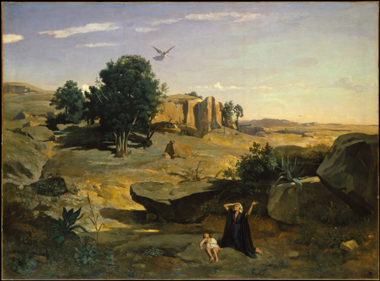 Camille Corot. Hagar in the desert