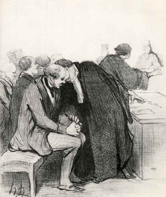 Honore Daumier. Safely carry them insults, I'll start