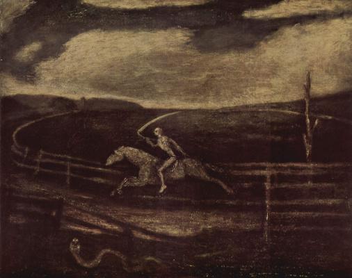 Albert Pinkem Ryder. The Hippodrome, or the rider on the pale horse