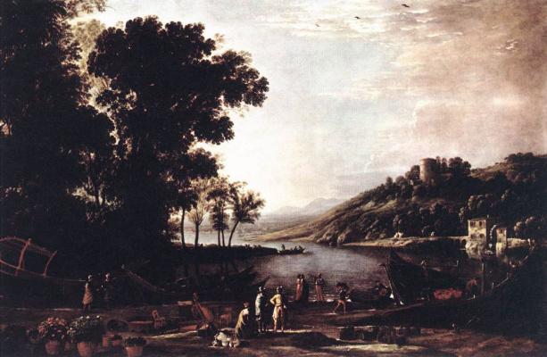 Клод Лоррен. Пейзаж с купцами