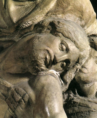 Michelangelo Buonarroti. The Florentine Pieta (detail)