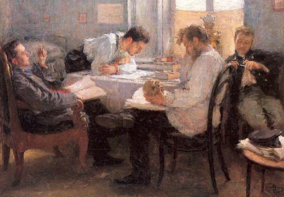 Леонид Осипович Пастернак. Ночь перед экзаменом