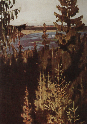 Arkady Alexandrovich Rylov. From the banks of the Vyatka