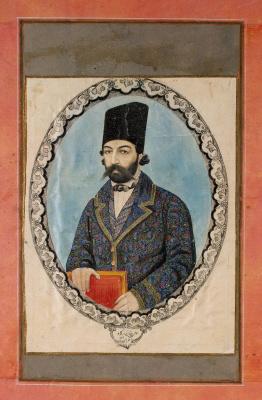 Aka Bala. Portrait of a man with a book